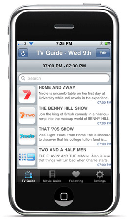 iPhone TV Guide for Australia